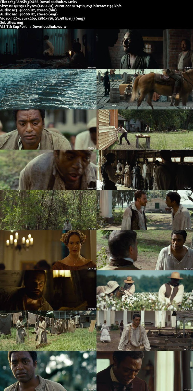 12 Years a Slave 2013 Hindi Dual Audio 720p BluRay Free Download