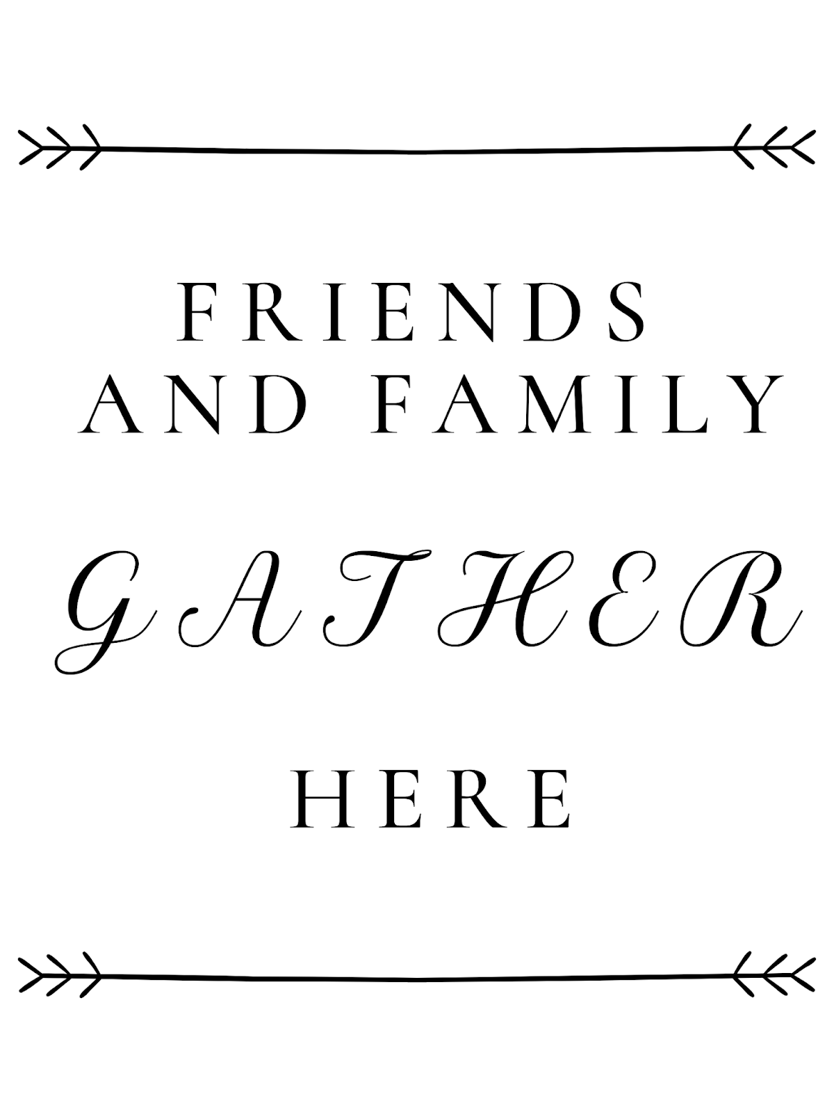 photograph about Gather Printable named Free of charge Printable Pals and Loved ones Acquire Right here Farmhouse