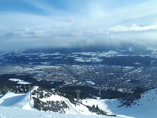 View from the Nordkette over Innsbruck in Austria