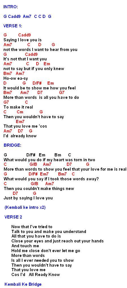 Lirik Lagu More Than Word : lirik, Chord, Westlife, Walls