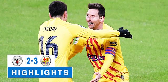 Athletic Bilbao vs Barcelona Highlights