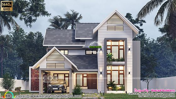 Fusion model house rendering front elevation