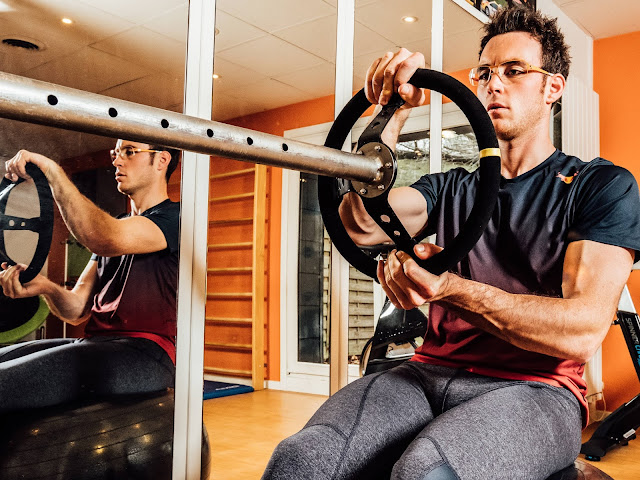 WRC Driver Thierry Neuville Exercising