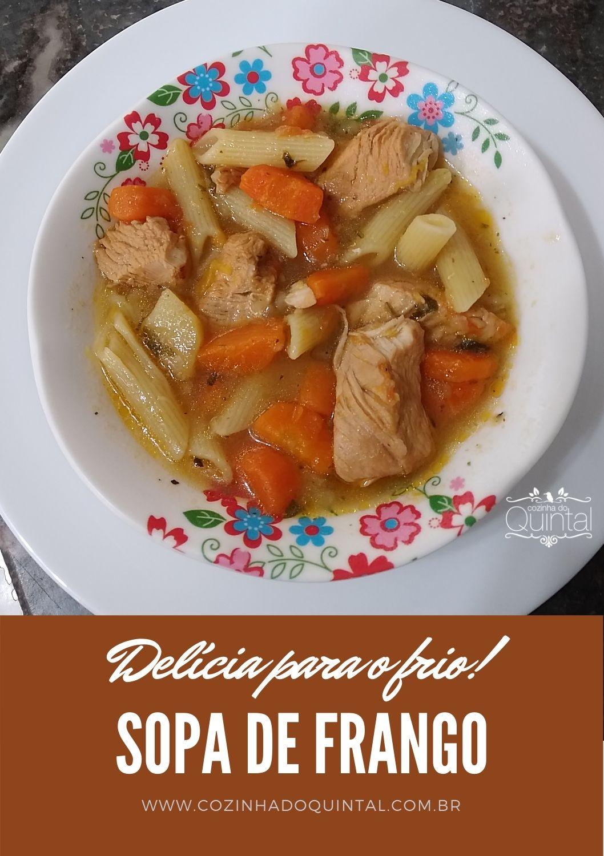 Sopa de Frango Cozinha do Quintal