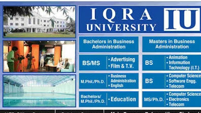 Admission are open in IQRA university for fall 2018.Apply online in IQRA university in all campuses.