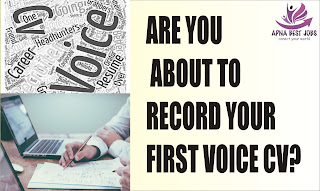 ARE YOU ABOUT TO RECORD YOUR FIRST VOICE CV?