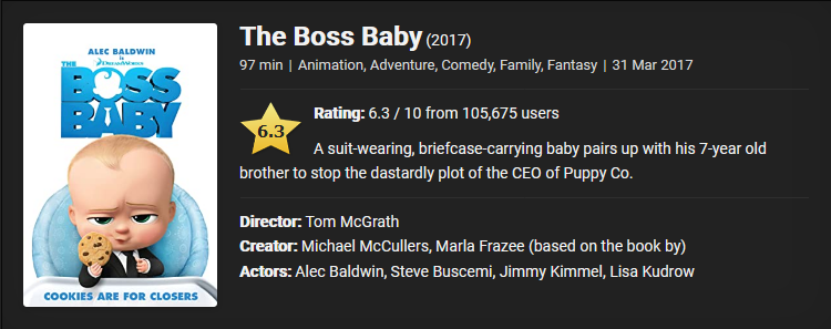 The Boss Baby (2017) Download Full Movie Dual Audio {Hindi-English} 480p [300MB] || 720p [1GB] || 1080p [2.8GB]