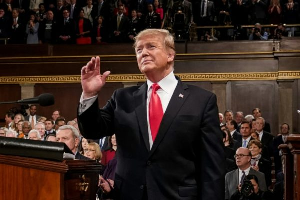 Trump in the House of Representatives for State of Union Address