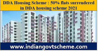 50% flats surrendered in DDA housing