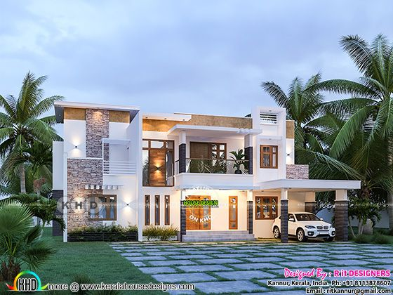 contemporary house architecture with 4 bedrooms