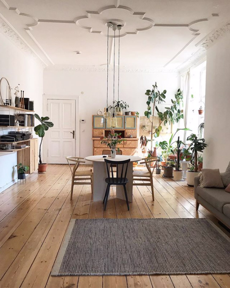 A Lovely, Relaxed Artist's Home Full of Plants