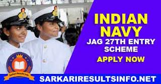 Indian Navy JAG 27th Entry Scheme