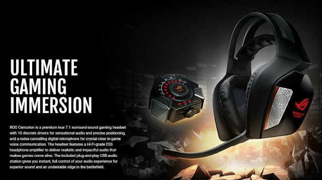 Headset Gaming ASUS ROG Centurion 7.1 - Ultimate Immersion