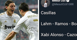 8 Former Real Madrid players named in Mesut Ozil all-time dream XI
