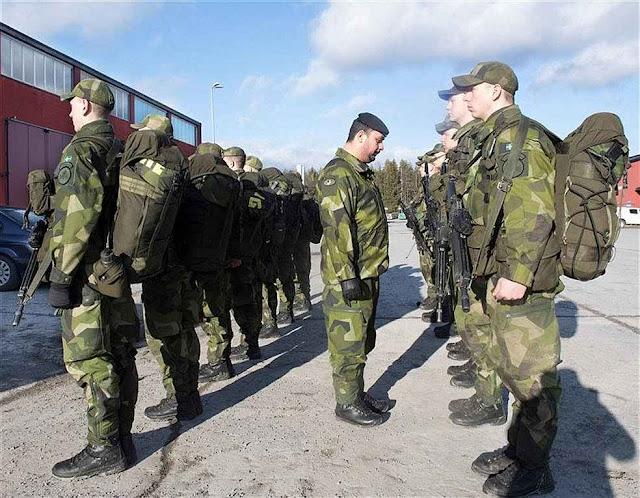 Povo sueco aprovou o retorno do serviço militar obrigatório