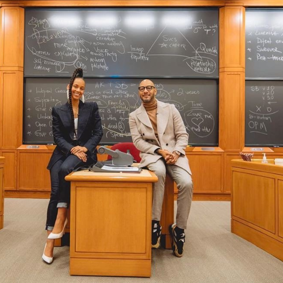 Alicia Keys and Swizz Beatz present case study at Harvard Business School