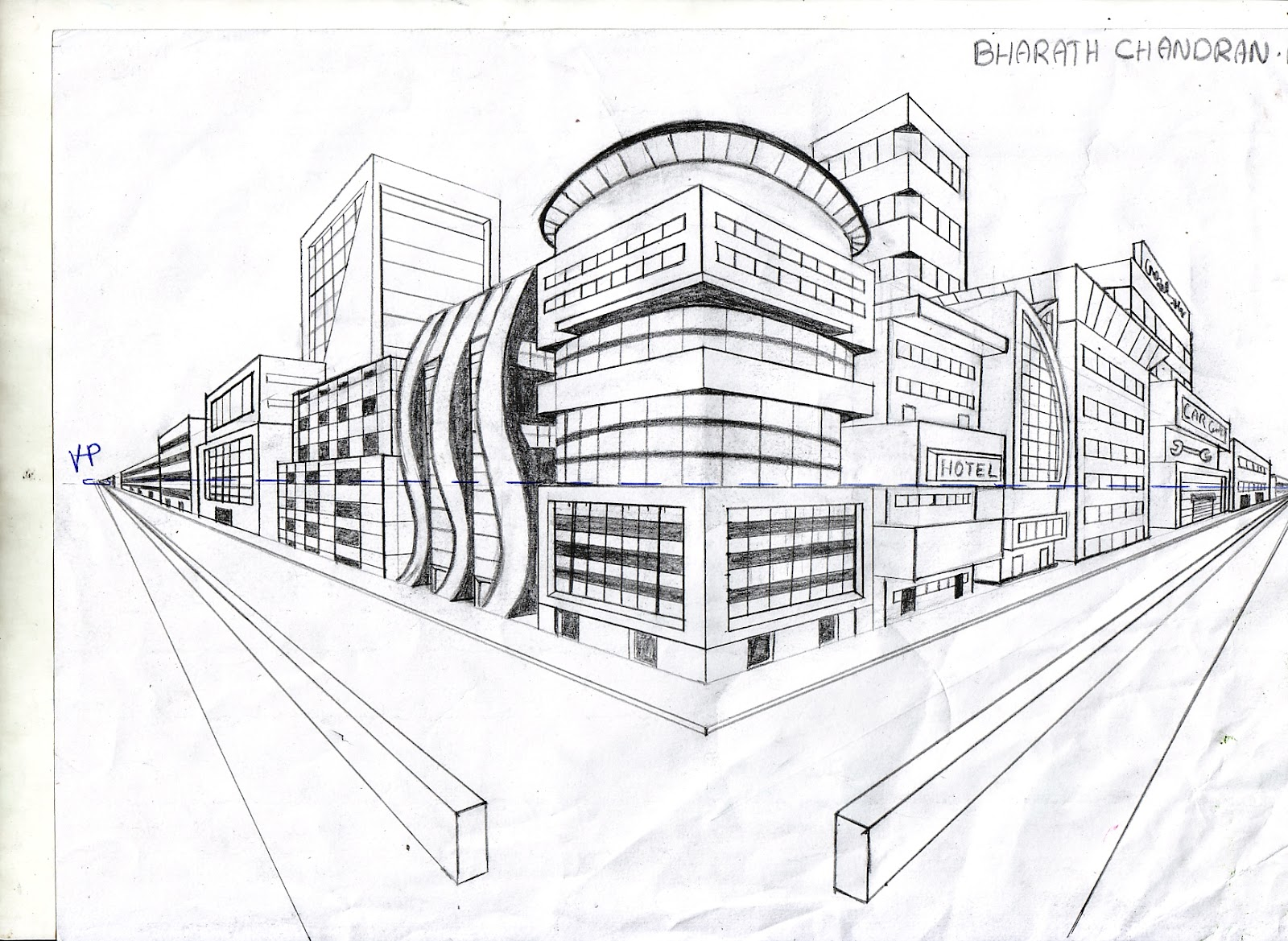 foundation art: two point perspective