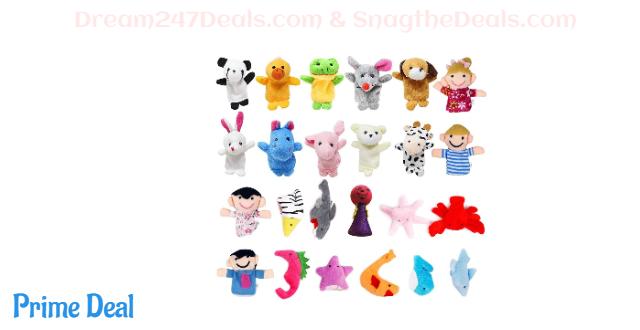 24 PCS Finger Puppets Toys Set 50% OFF