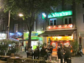 French Cafe Night Reims France