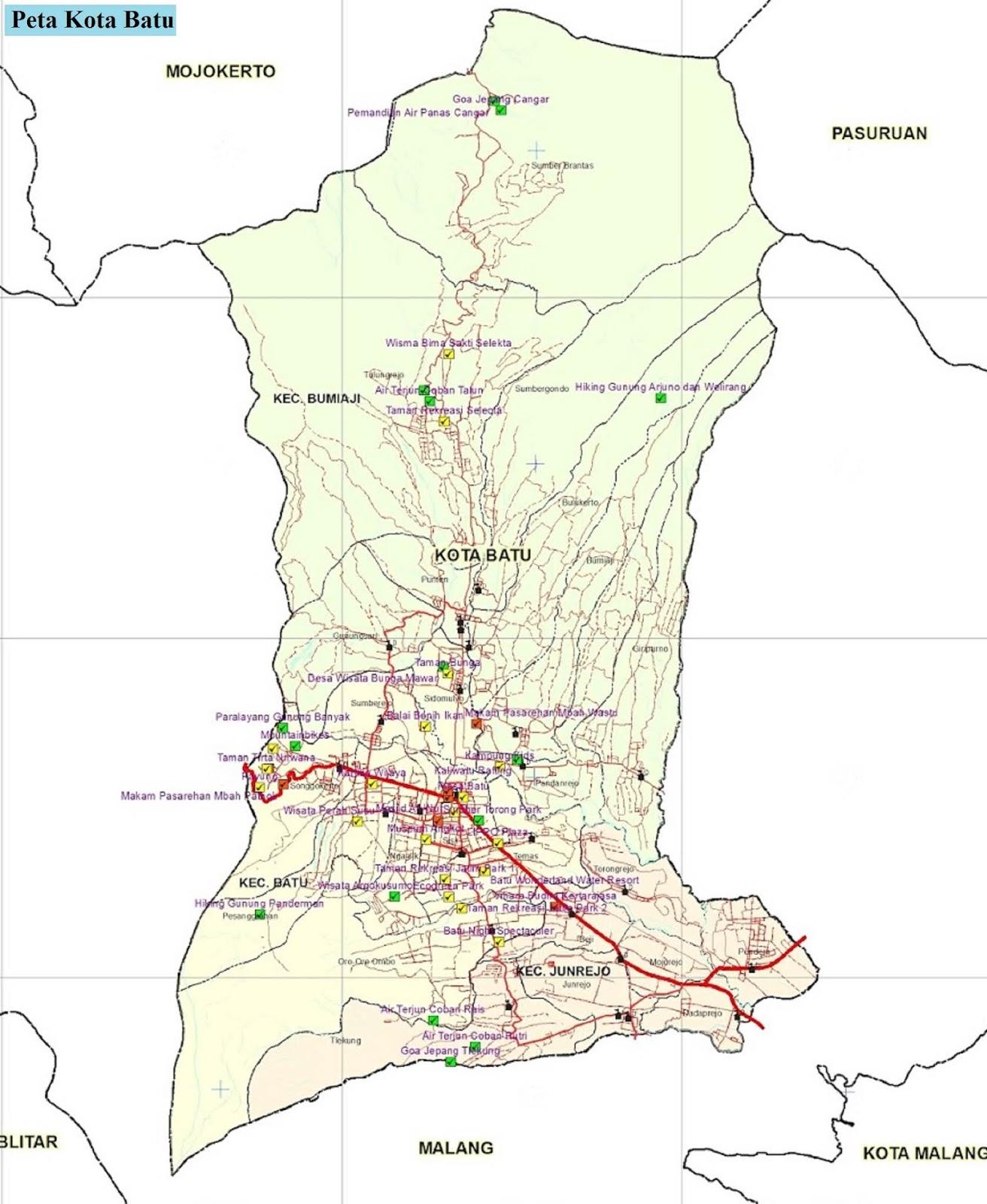 Peta Kota Batu HD