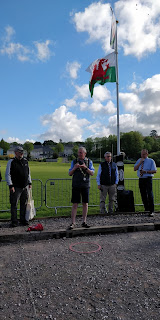 raising the flag at the Petanque Celtic Challenge
