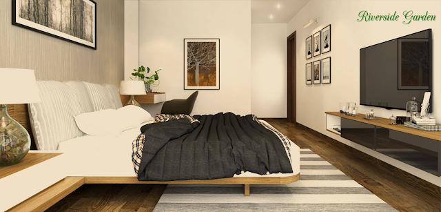 Phòng ngủ chung cư Riverside Garden