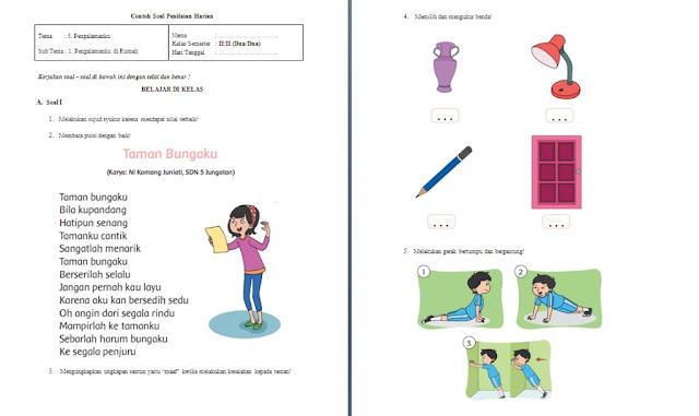 Soal PH Kelas 2 SD/MI: Tema 5