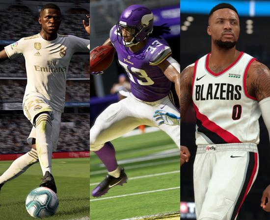 FIFA 20, Madden NFL 21 e NBA 2K21