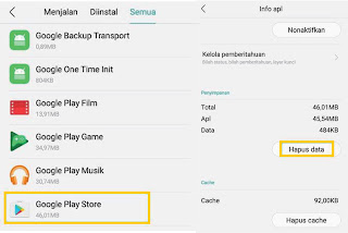 Langkah Cara Menghapus File Cache Google Play Store