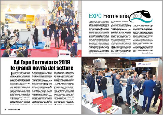 SETTEMBRE 2019 PAG. 24 - Ad Expo Ferroviaria 2019 le grandi novità del settore