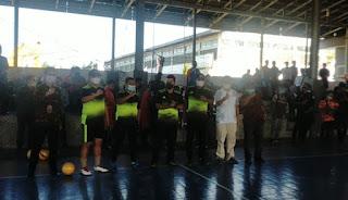 32 Tim Ikut Berlaga pada Ajang Turnamen Futsal Piala Bupati Rocky