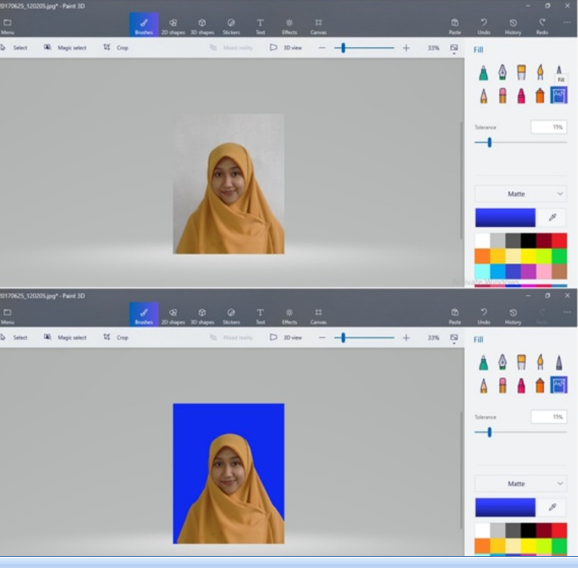 Cara Ubah Warna Background Merah-Biru di Paint