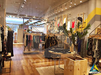 visão central interior projeto loja zinzane barrashopping