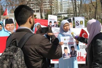 Emak-Emak dan Mahasiswa Turki  Deklarasi Dukung Prabowo-Sandi
