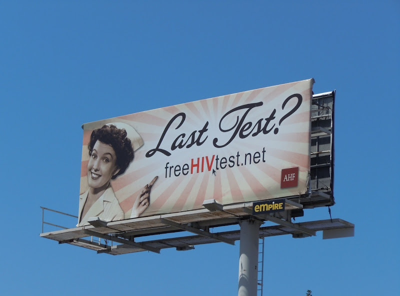 Last Test HIV Nurse billboard