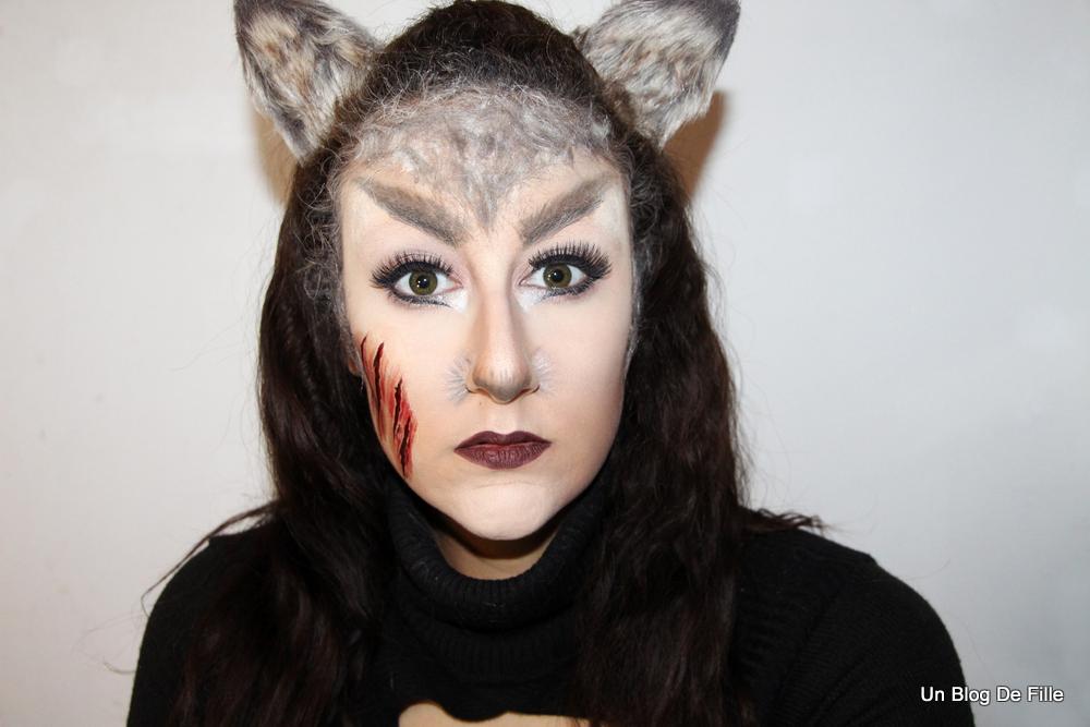 Un blog de fille maquillage halloween loup garou - Maquillage loup facile ...