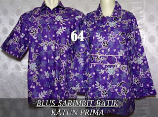 Blus batik couple sarimbit muslim 2015 murah dan modern