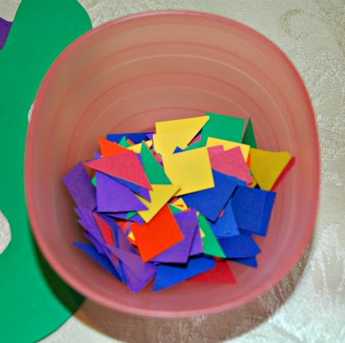 bowl of shapes for pattern snakes