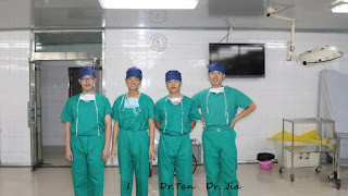 Orthopedic surgeons Dr. Jing-Chuan Sun, Dr. Chen Yan, Dr. Hao-Yuan Tan, and Dr. Huai-Cheng Jia, all from China.
