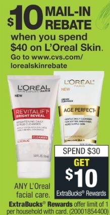 free loreal skin care CVS Couponers
