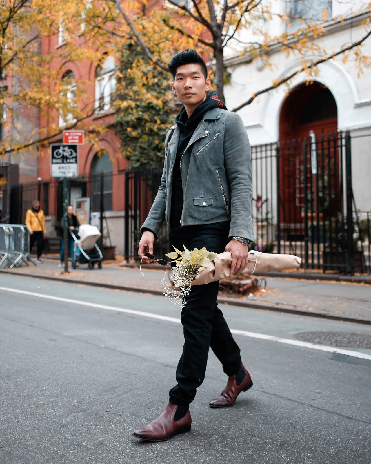 Leo Chan wearing Burgundy Paul Evan Chelsea Boots | Asian Male Model and Blogger