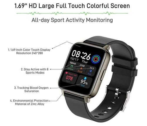 Motast HD Full Touch Screen Fitness Tracker Smart Watch