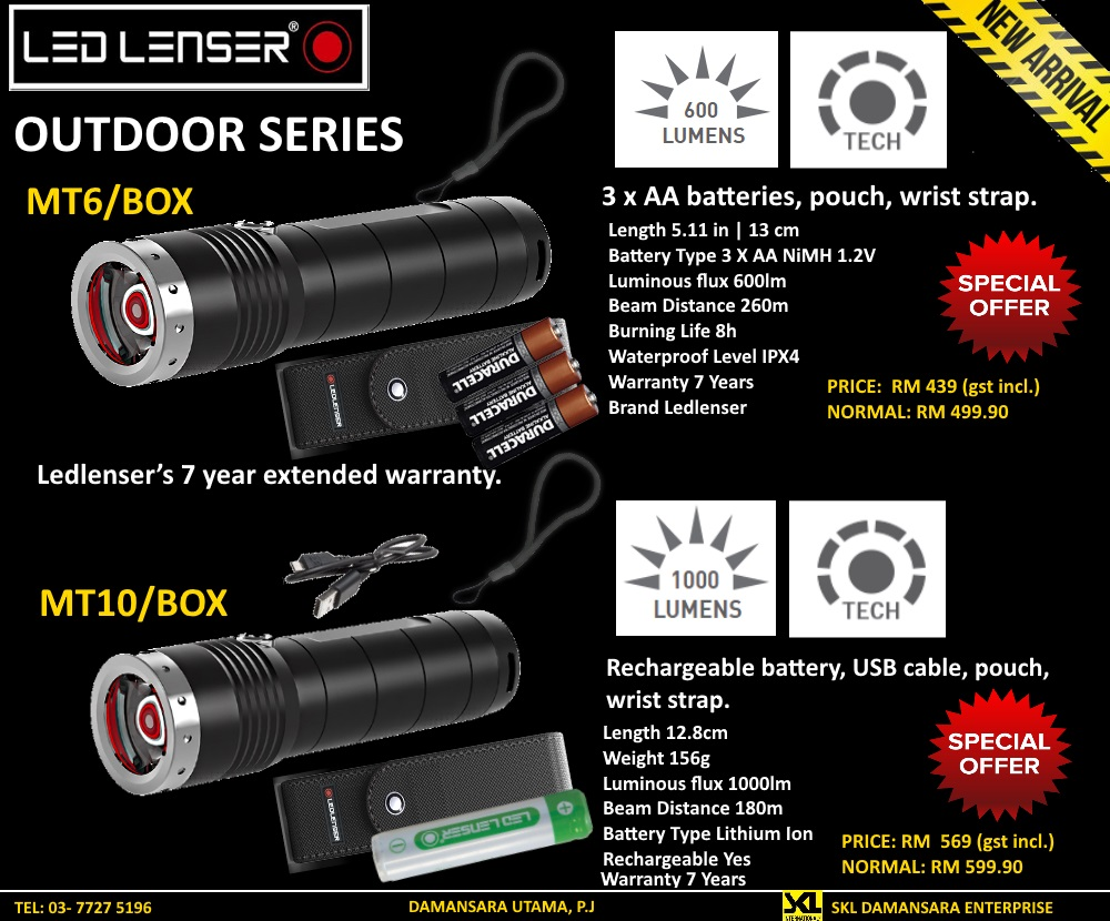 New Arrival LED Lenser Outdoor Series Promotion!!