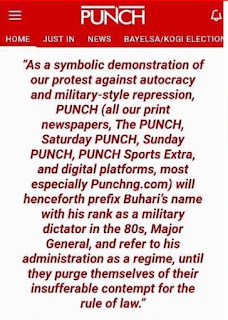 """Why Punch Decided To Start Addressing Buhari As """"General"""""""
