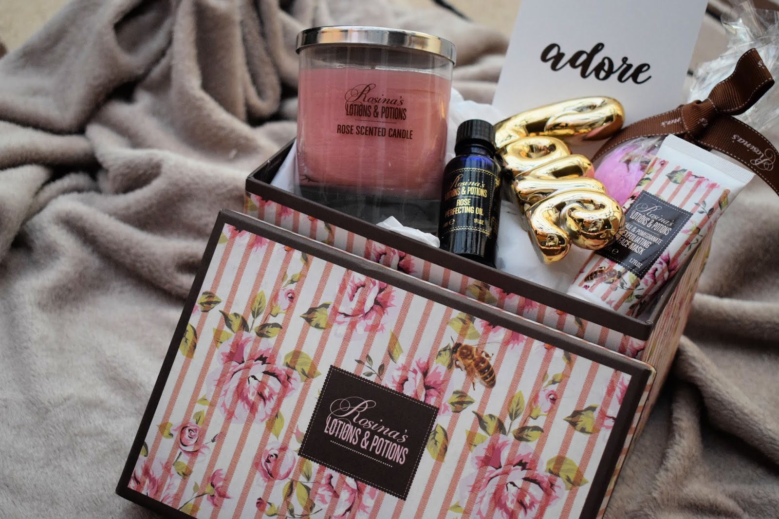 A Rose Scented Pamper with Rosina's Lotions and Potions