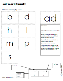 Short vowels ad word family flip book tj homeschooling for Html flip book template