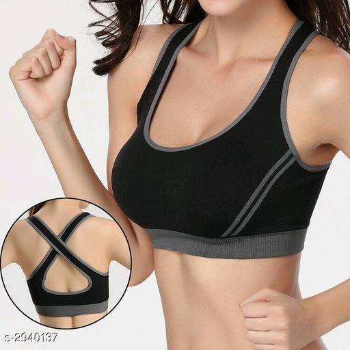 Comfy Women's Padded Solid Sports Bra