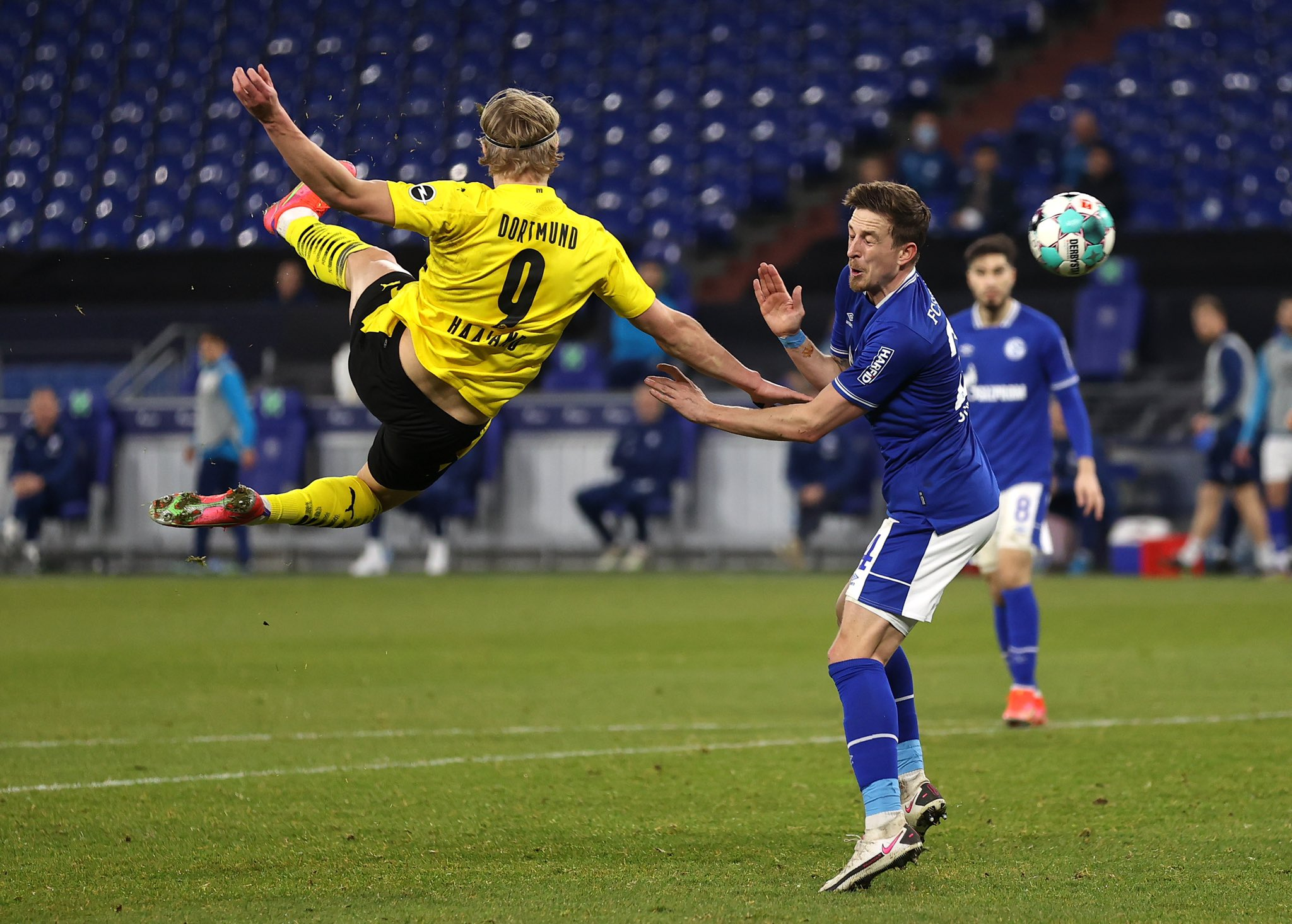 Erling Haaland scored a magnificent volley to inspire Borussia Dortmund to victory last weekend