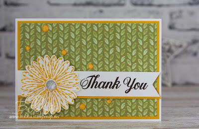 Delightful Daisy Thank You Card made with Stampin' Up! UK Supplies which you can buy here