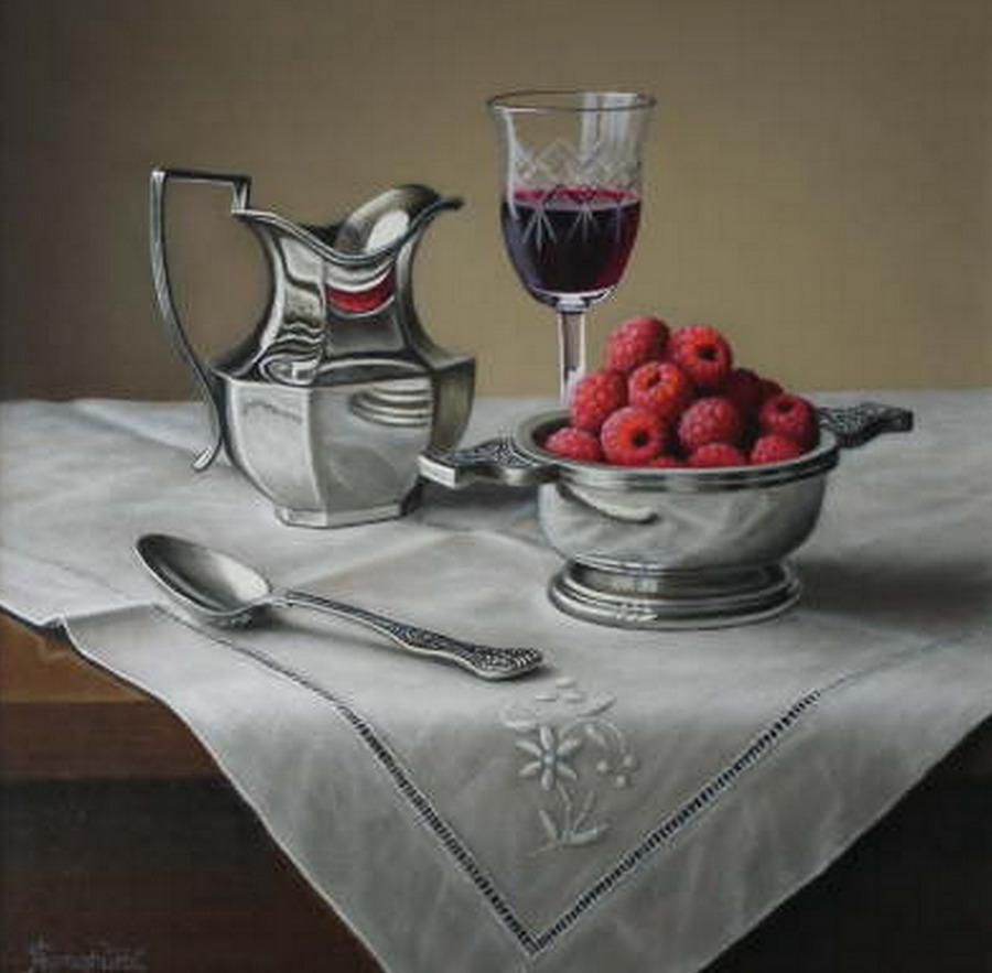 Im genes arte pinturas manteles y frutas sobre mesa - Imagenes de mesas con manteles ...